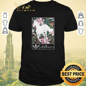 Top Adidas Deftones horse floral shirt sweater