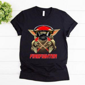 Top Baby Yoda Firefighter shirt