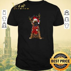Top Christmas Boxer Reindeer shirt