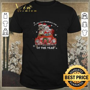 Top Christmas Shih Tzu Santa its the most wonderful time of the year shirt