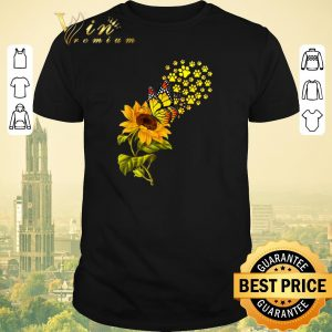Top Dog Paw Sunflower And Butterfly shirt sweater