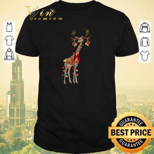 Top Giraffe gorgeous reindeer Christmas shirt sweater