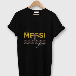 Top Lionel Messi 2019 D'or Ballon signature shirt