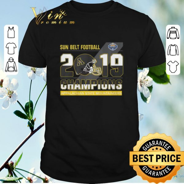 Top Sun Belt Football 2019 Champions Appalachian State Mountaineers shirt sweater