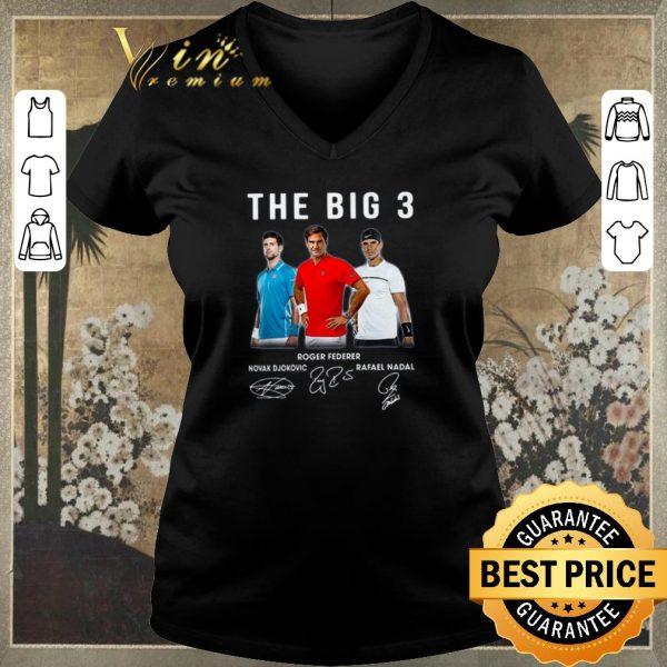Top The Big 3 Novak Djokovic Roger Federer Rafael Nadal all Signed shirt sweater