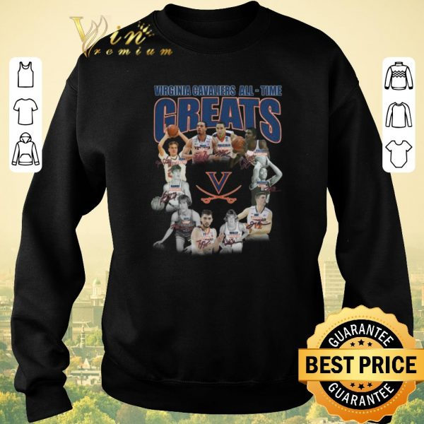 Top Virginia Cavaliers all time greats legends all signature shirt sweater
