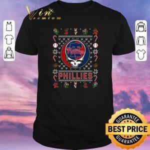 Top christmas ugly philadelphia phillies grateful dead sweater