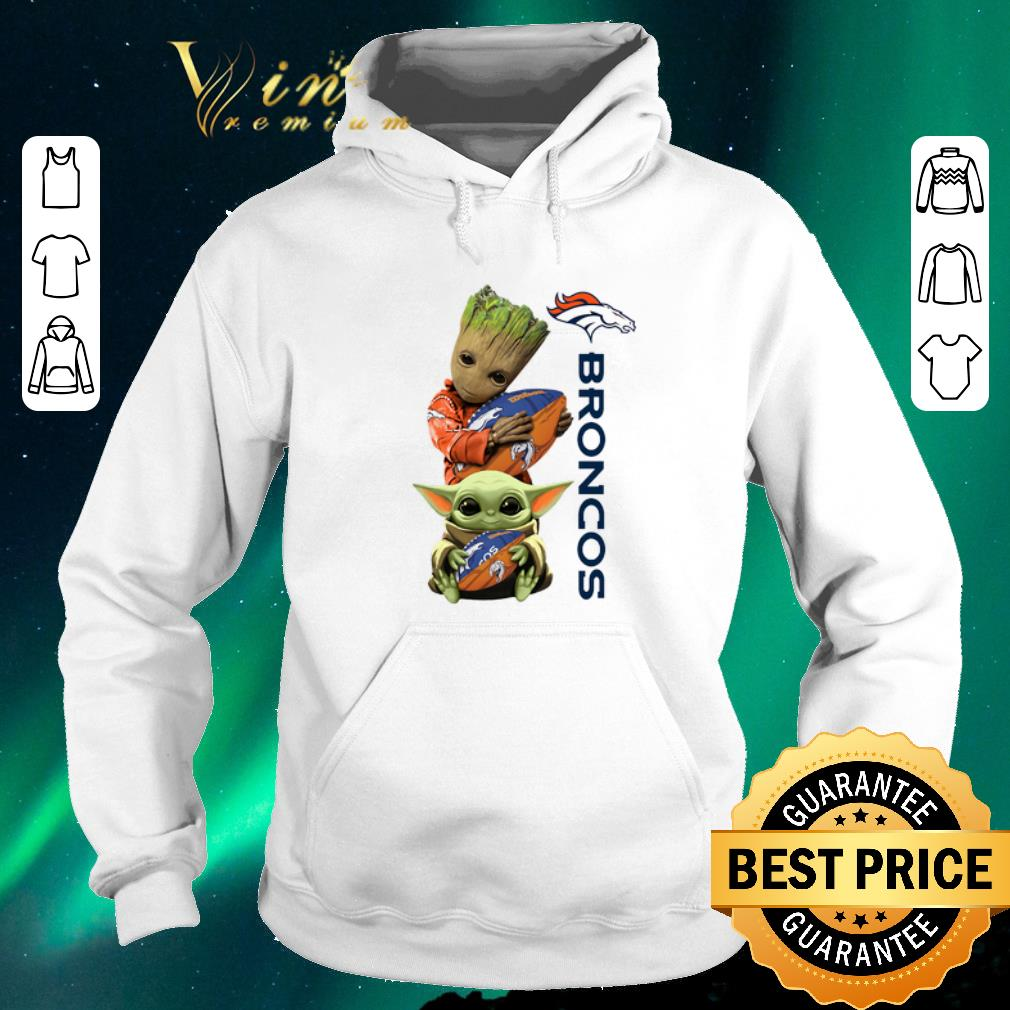 Awesome Baby Groot And Baby Yoda Hug Denver Broncos Star Wars shirt sweater 4 - Awesome Baby Groot And Baby Yoda Hug Denver Broncos Star Wars shirt sweater
