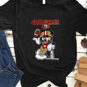 Awesome San Francisco 49ers Disney Mickey player super bowl shirt