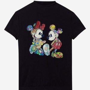 Great Mickey Mouse and Minnie Mouse with all Disney characters shirt