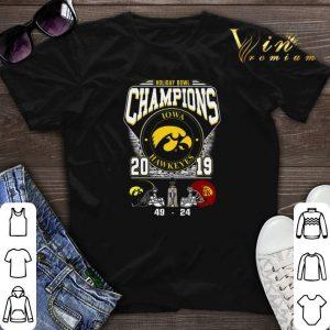 Holiday Bowl Champions Iowa Hawkeyes 2019 49 24 USC Trojans shirt sweater