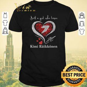 Hot Diamond heart just a girl who loves Kimi Raikkonen signature shirt sweater