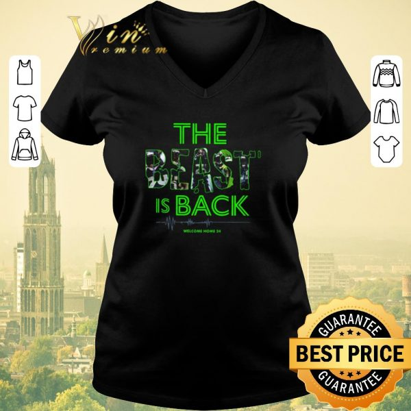 Hot Marshawn Lynch The Beast is back welcome home 24 Seahawks shirt sweater