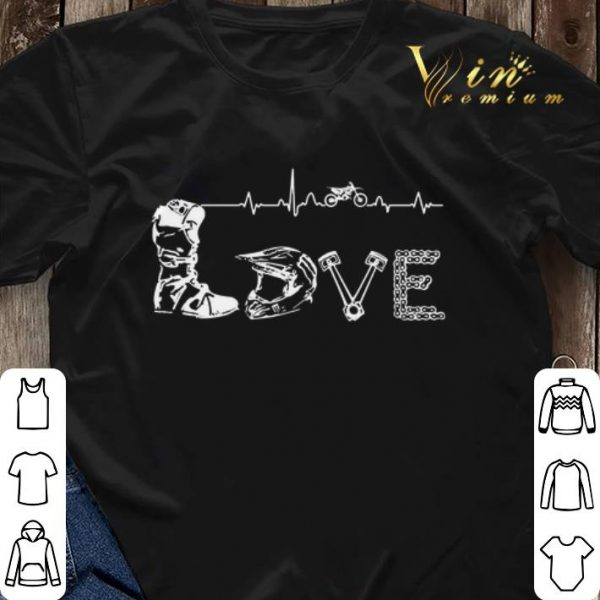 Motocross Love Letters With Heartbeat shirt sweater
