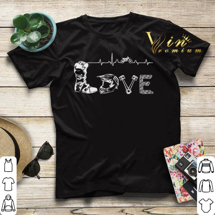 Motocross Love Letters With Heartbeat shirt sweater 4 - Motocross Love Letters With Heartbeat shirt sweater
