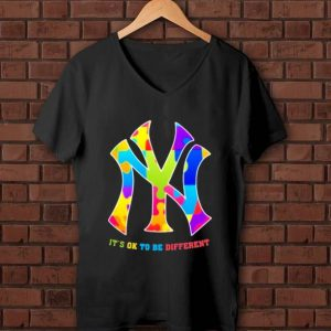Nice New York Yankees Autism It's ok to be different shirt