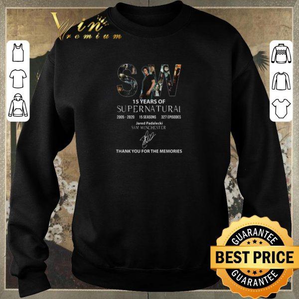 Nice SW 15 Years Of Supernatural 2005 2020 Sam Winchester Signature shirt sweater