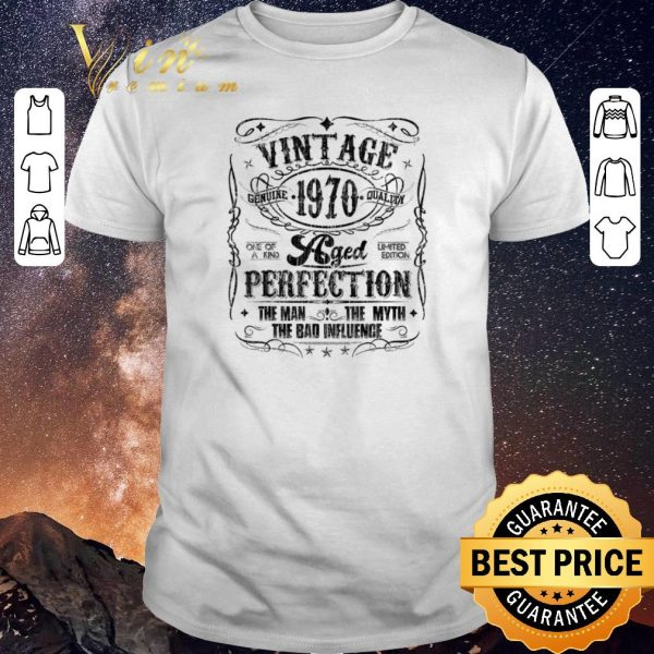 Original Vintage Genuine Quality 1970 Perfection The Man The Myth The Bad shirt sweater