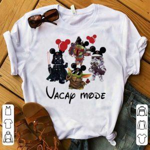 Premium Baby Yoda Darth Vader Boba Frick Stormtrooper Vacay Mode shirt