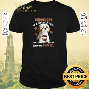 Premium Happiness is a cup of coffee & time well spent with my Shih Tzu shirt sweater