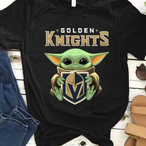 Premium Star Wars Baby Yoda Hug NHL Golden Knights shirt