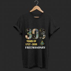 Pretty 303 Years Of Freemasonry 1717 2020 shirt