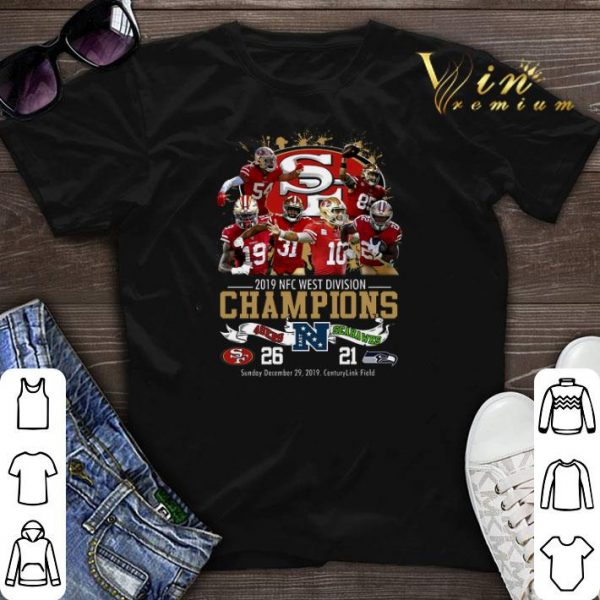 San Francisco 49ers 2019 NFC West Division Champions Seahawks shirt sweater