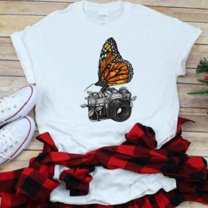 Top Butterfly And Camera Art shirt