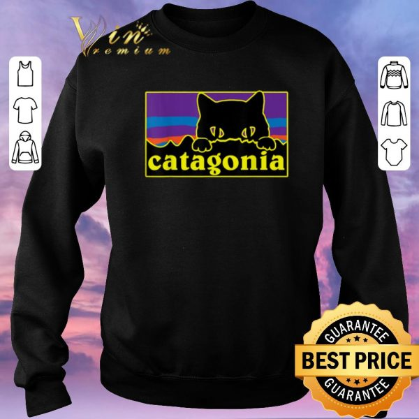 Top Catagonia Cat Meowntains shirt sweater