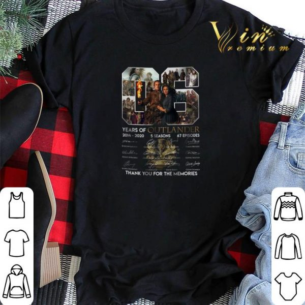 06 years of Outlander 2014 2020 signature thank you for memories shirt sweater