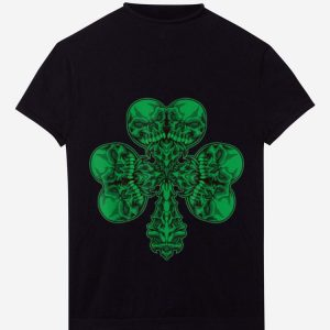 Awesome Cloverleaf Skull – Shamrock Full Of Skulls – Irish Pirate shirt