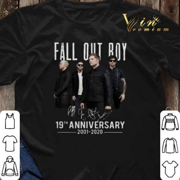 Fall Out Roy Signatures 19th Anniversary 2002-2020 shirt sweater