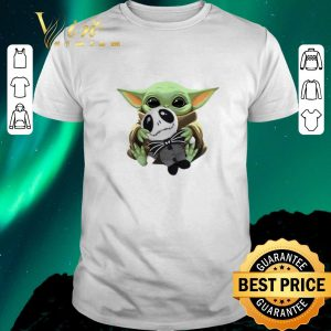 Funny Baby Yoda hug Jack Skellington Star Wars shirt sweater