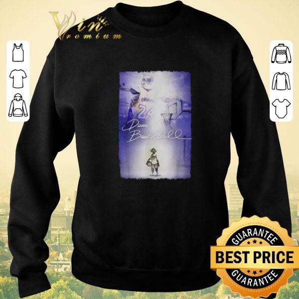 Funny Rip Kobe Bryant Dear Basketball signature shirt sweater