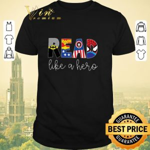 Funny Superheroes symbol read like a hero shirt