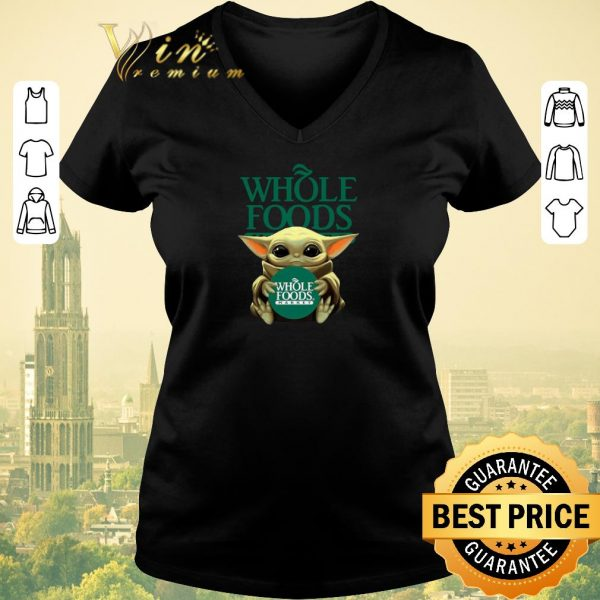Hot Baby Yoda Hug Whole Foods Market Star Wars shirt sweater