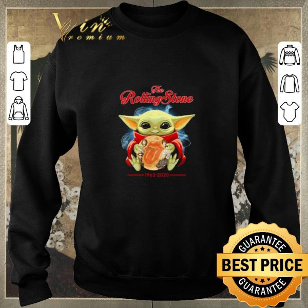 Hot Baby Yoda hug the Rolling stone 1962-2020 shirt sweater