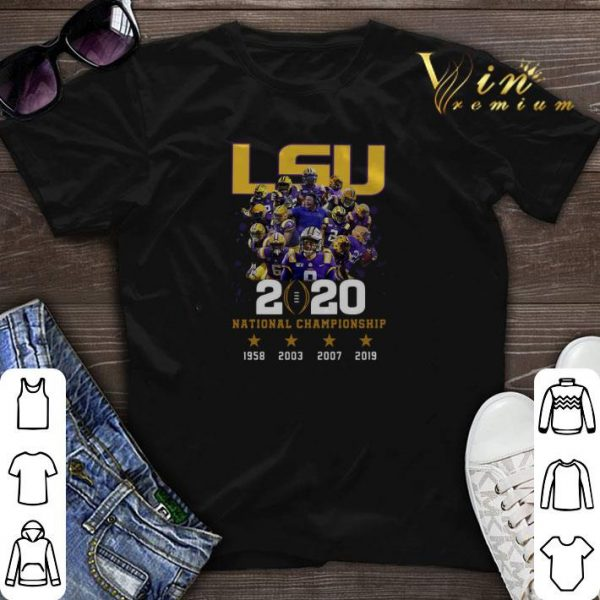 LSU Tigers 2020 National Championship 1958 2003 2007 2019 shirt sweater