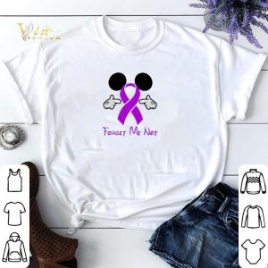 Mickey Mouse Forget me not Breast Cancer Awareness shirt sweater