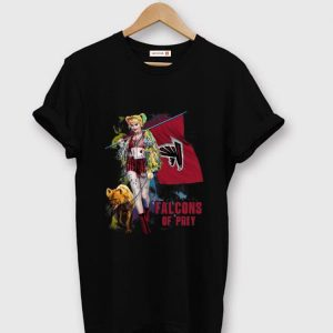 Nice Harley Quinn Atlanta Falcons Of Prey Atlanta Falcons Flag shirt
