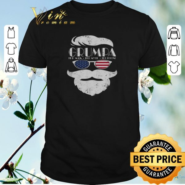 Nice Trump Grumpa the man the myth the legend shirt sweater