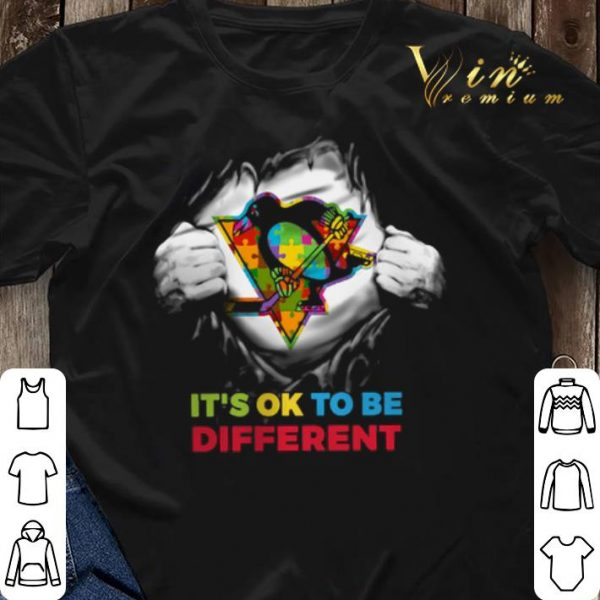 Pittsburgh Penguins Blood inside me it's ok to be different shirt sweater