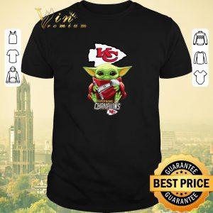 Pretty Kansas City Chiefs Baby Yoda Hug Super Bowl Champions Star Wars shirt sweater