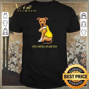 Pretty Staffordshire Terrier tattoo i love Spina Bifida Awareness shirt sweater