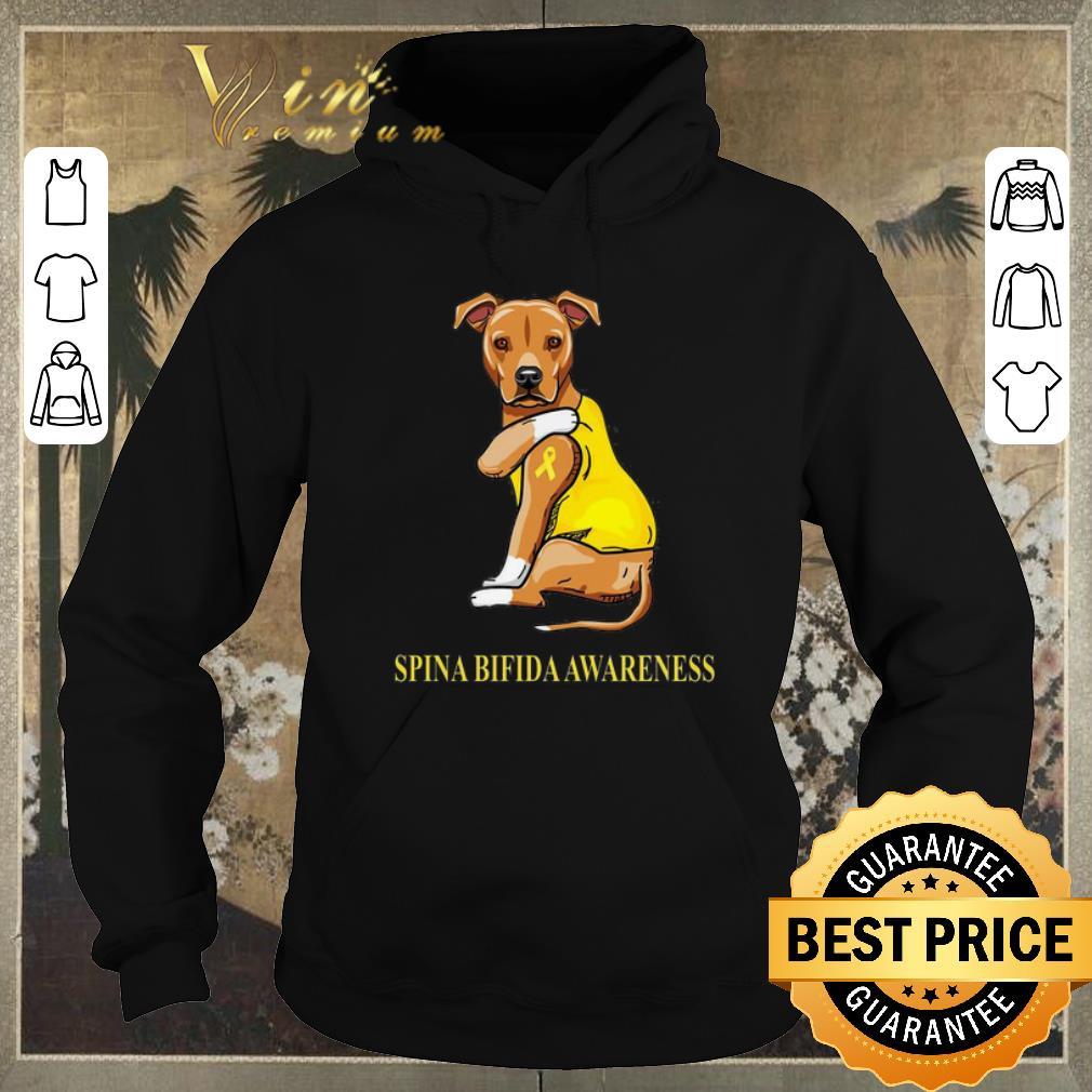 Pretty Staffordshire Terrier tattoo i love Spina Bifida Awareness shirt sweater 4 - Pretty Staffordshire Terrier tattoo i love Spina Bifida Awareness shirt sweater