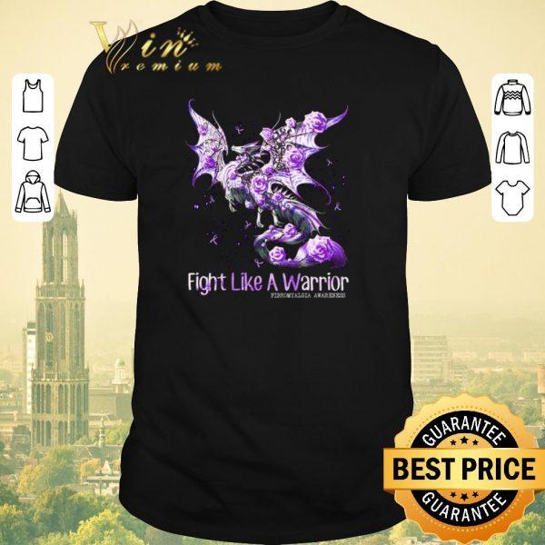 Top Dragon fight like a warrior Fibromyalgia Awareness shirt