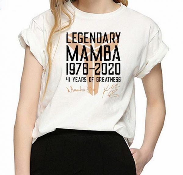Top Legendary Mamba 41 Years Of Greatness Kobe Bryant Signature shirt