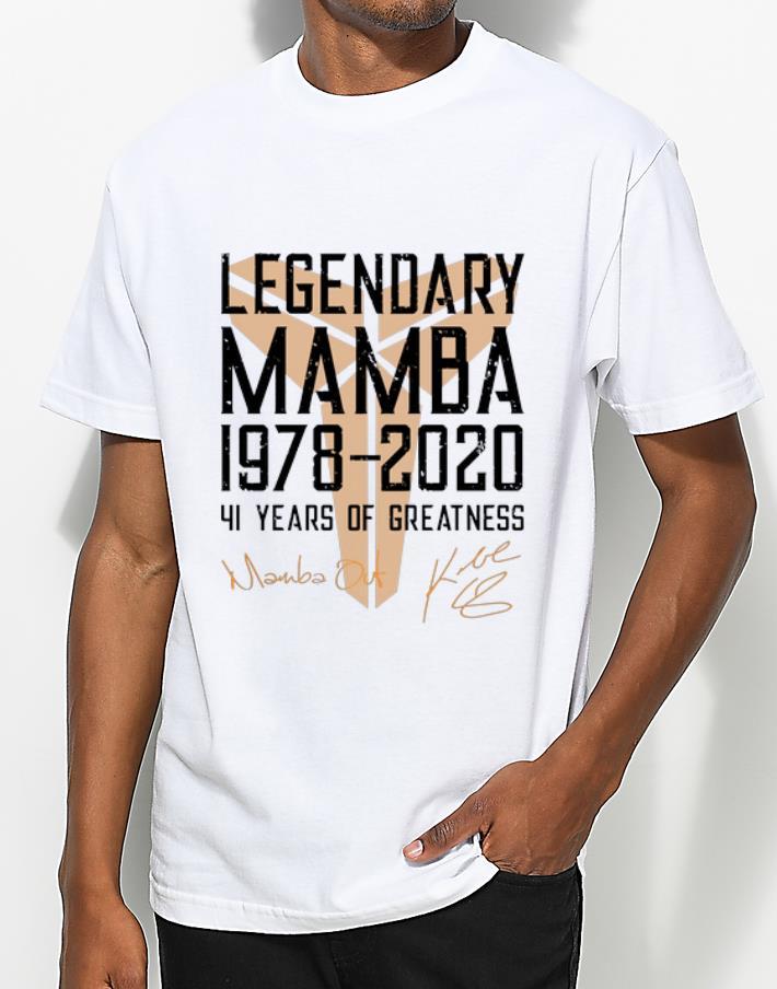 Top Legendary Mamba 41 Years Of Greatness Kobe Bryant Signature shirt 4 - Top Legendary Mamba 41 Years Of Greatness Kobe Bryant Signature shirt