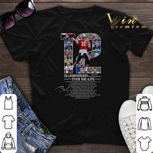 20th Anniversary Tom Brady New England Patriots 2020 shirt sweater