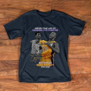 Awesome Heroes Come And Go Legends Live Forever Kobe Bryant Signature shirt